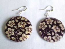 Brown Floral earrings